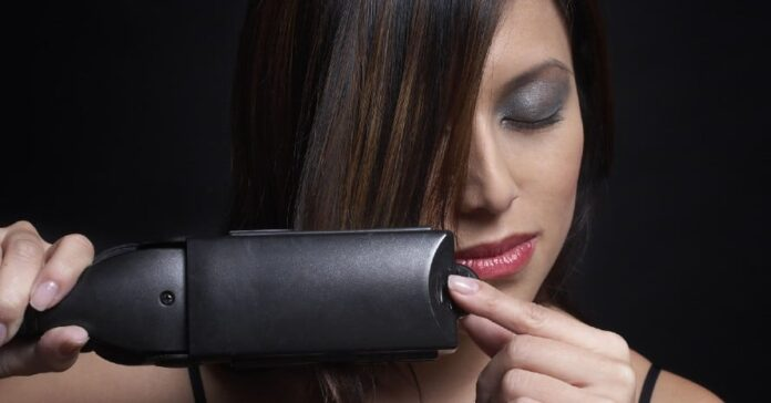 pretty-girl-with-Flat-Iron